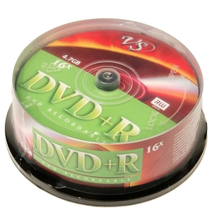 DVD+R VS 4.7Gb 16x банка 25 шт.