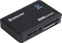 Картридер Defender Optimus CF/xD/MMC/RSMMC/SDHC/miniSDHC/microSDHC/MS(/PRO/Duo/M2) Card Reader/Write