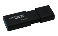 USB 64Гб 3.1 Kingston DataTraveler 100 G3 <DT100G3/64GB>