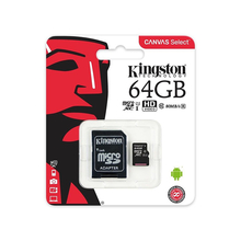 Карта памяти microSDXC 64Гб Kingston <SDCS/64GB> microSDXC Class 10 UHS-I U1 + SD Адаптер