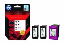 Картридж HP F6T40AE (3x№46) Black+Black+Color для HP Deskjet Ink Advantage 2020hc / 2520hc