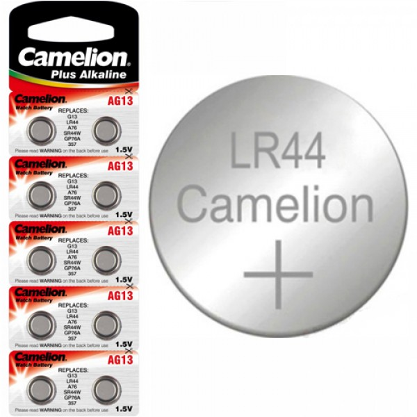 Элемент питания AG13 Camelion (LR44/ A76) Alkaline Cell (1шт)