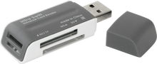 Картридер Defender Ultra Swift <83260> USB2.0 MMC/RSMMC/SDHC/microSDHC/MS(/PRO/Duo/M2) Card Reader/W